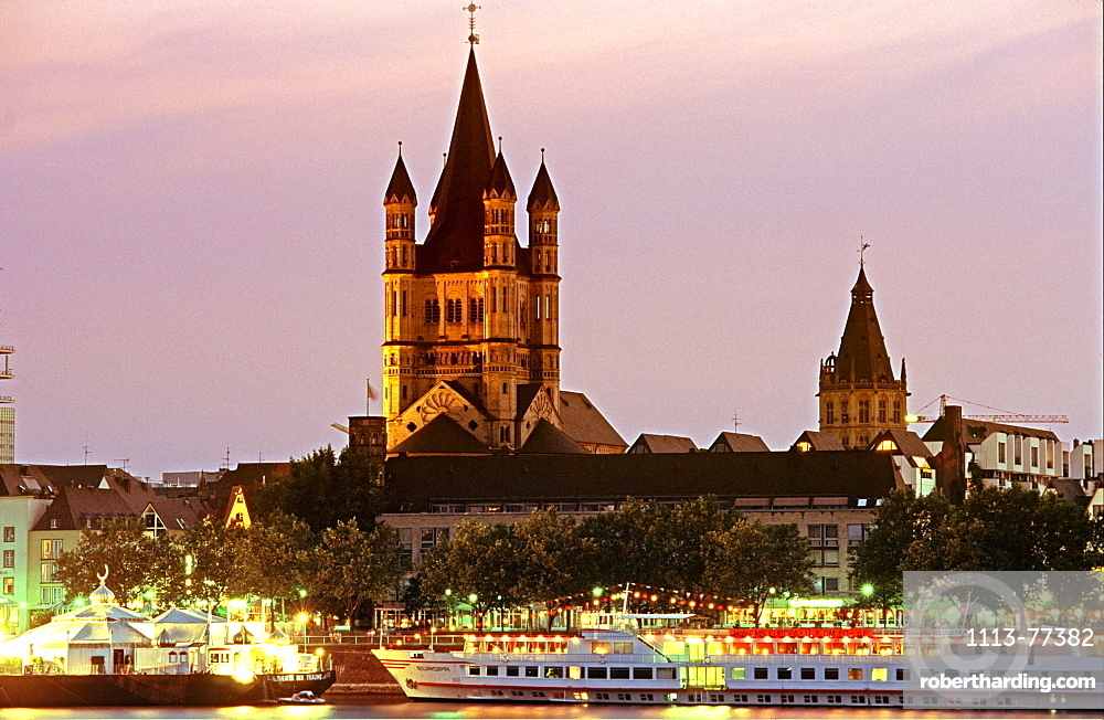 Evening, Gross St. Martin, Cologne, Germany