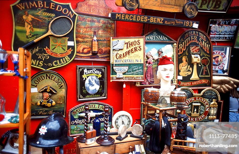 Flea market, Notting Hill, London, England