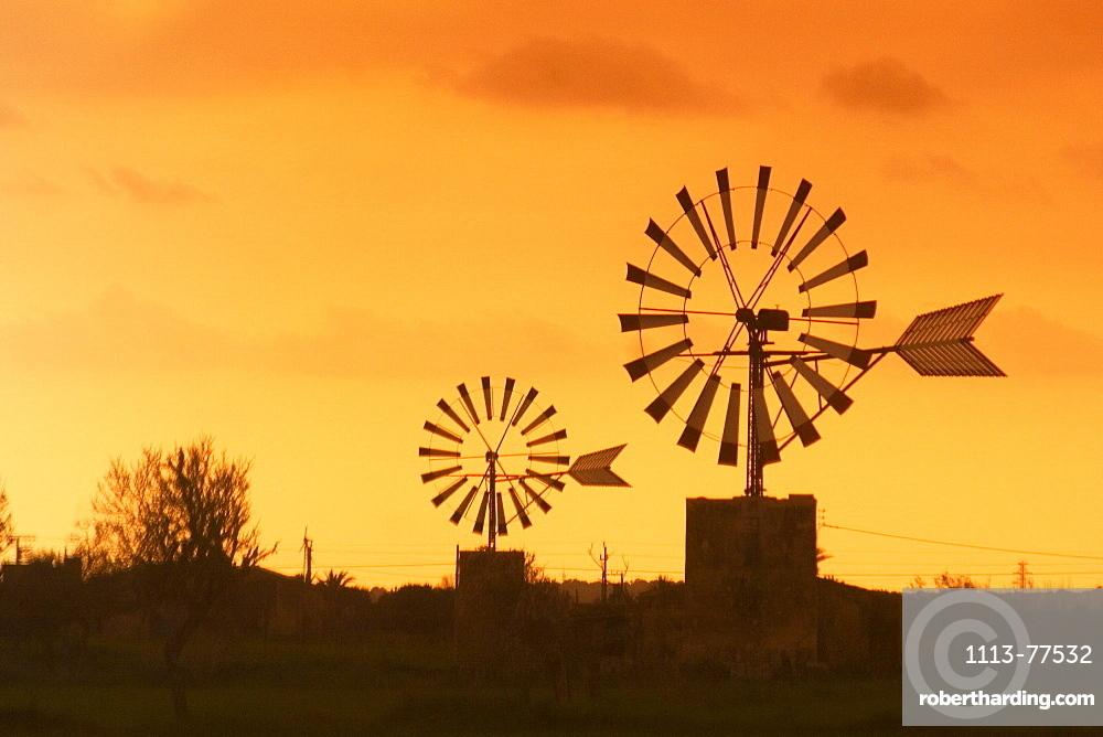 Mallorca wind mills at Sant Jordi valley