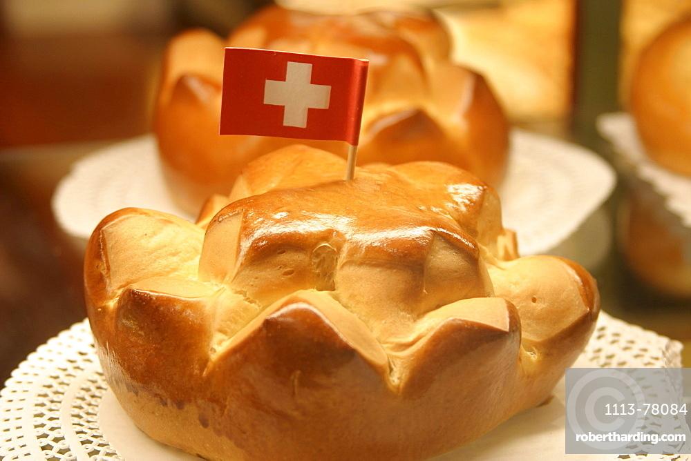 Switzerland, Zuerich, redsweets with white swiss cross, 1, August