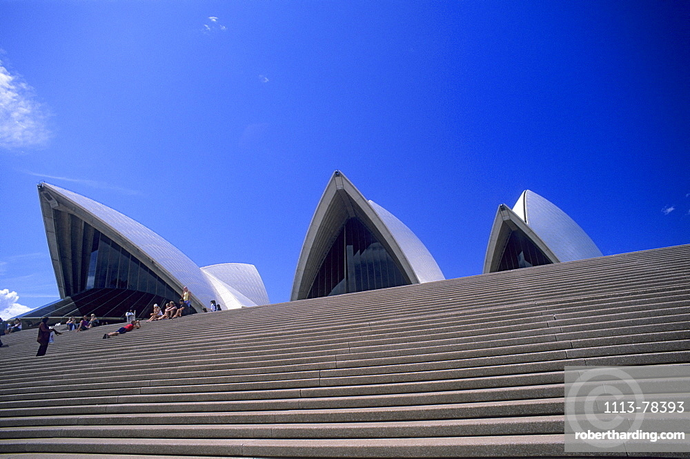 Steps leading up to the Sydney Opera, Sydney, Australia