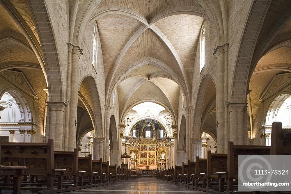 interior of Valencia Cathedral, Valencia, Spain