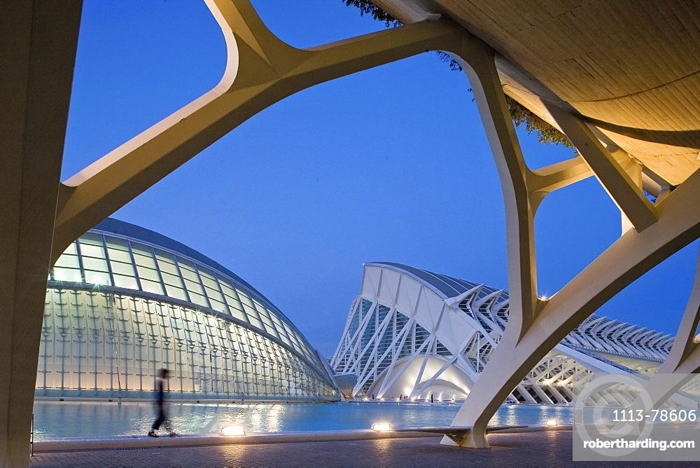City of Arts and Sciences, Science Museum, Ciudad de las Artes y las Ciencias, Museo de las Ciencias Principe Felipe, like a skeleton of a giant whale, architect Calatrava, Valencia, Spain