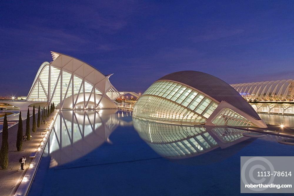 City of Arts and Sciences, Ciudad de las Artes y las Ciencias, L'Hemispheric, Valencia, Spain