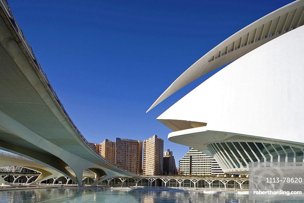 City of Arts and Sciences, Ciudad de las Artes y las Ciencias, architect Calatrava, Valencia, Spain