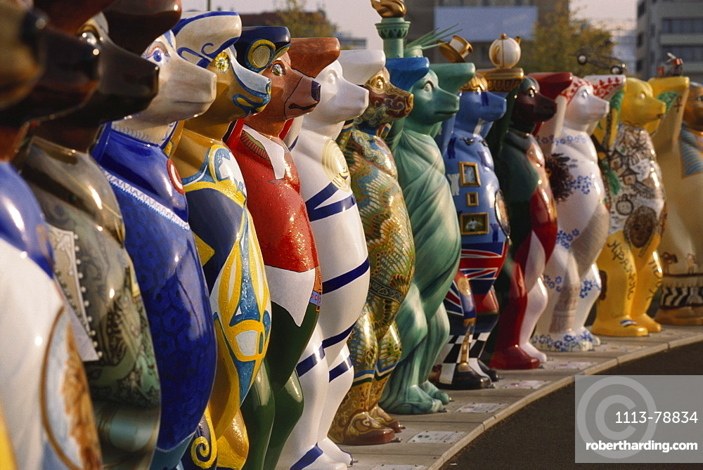 A row of Berlin bears, Pariser Platz, Berlin, Germany