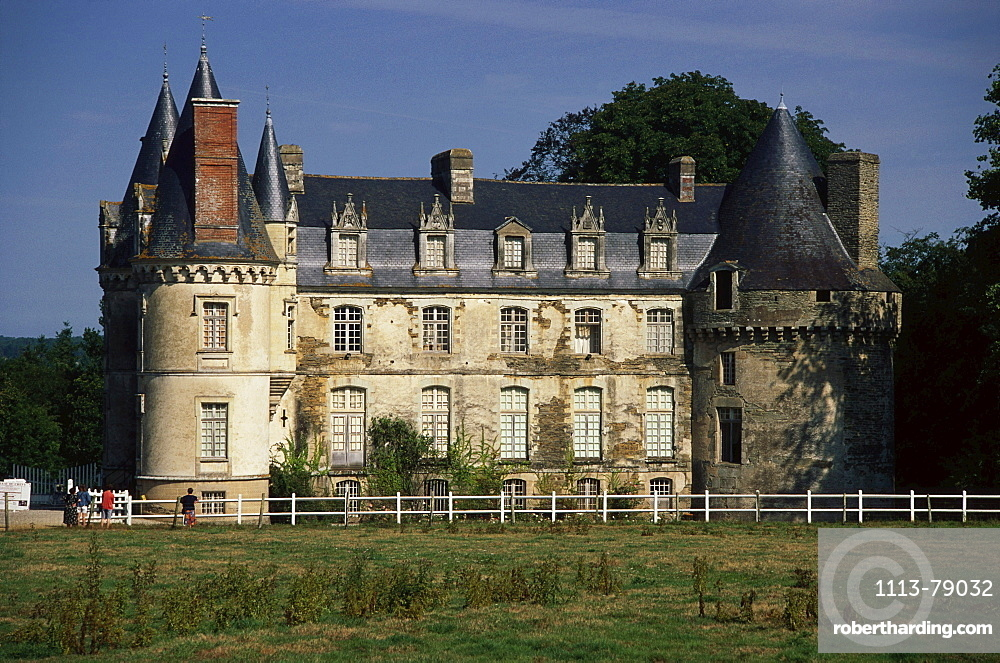 An old mansion, La Chapelle Caro, Brittany, France