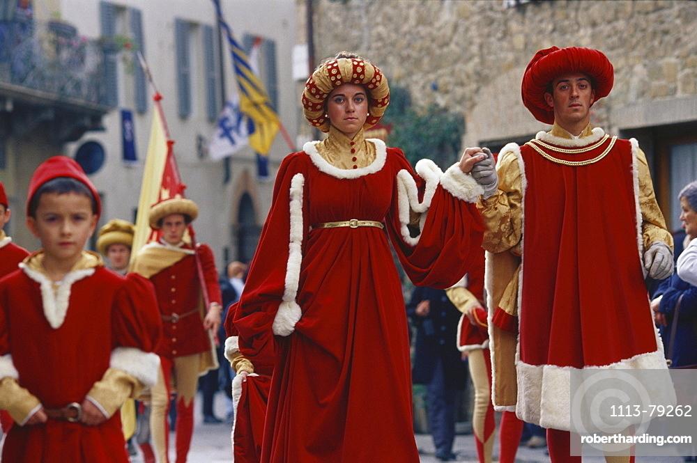 Traditional celebration, Sagra del Tordo, Montalcino, Tuscany, Italy