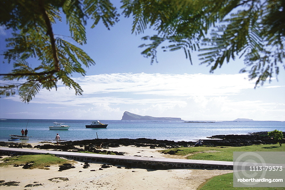 The coast, Cap Malheureux with beach and sea view, Holiday, Mauritius, Africa
