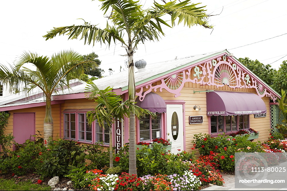 Antique shop on Captiva Island, Florida, USA