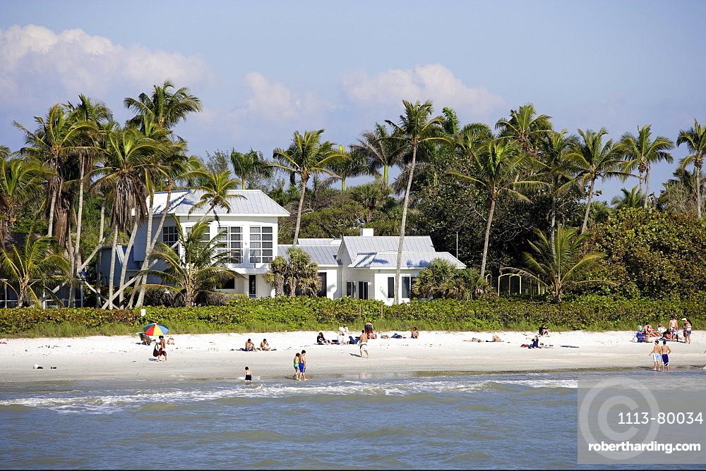 Municipal beach in Naples, Florida, USA