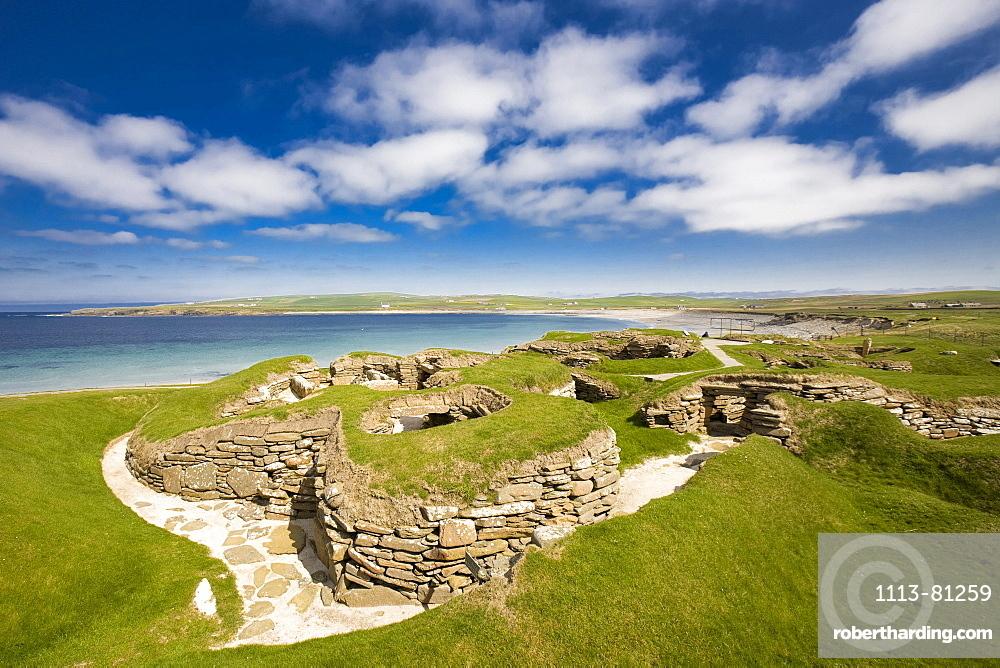 Stone age, Neolithic, settlement Skara Brae, UNESCO World Heritage, West Mainland, Orkney Islands, Scotland, Great Britain