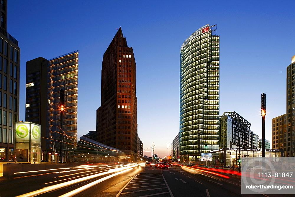 Berlin, Potsdamer Platz, Sony Center, DB tower