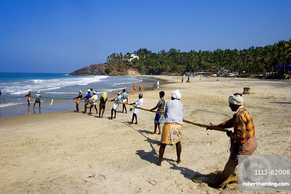 India Kerala Kovallam fishermen