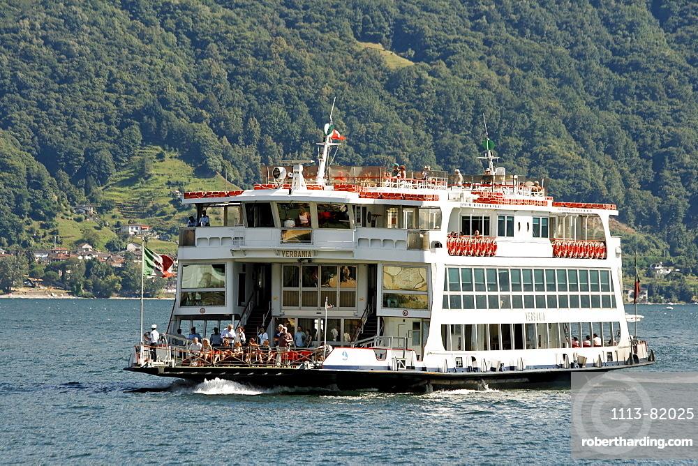 Switzerland, Ticino, Ascona Lago Maggiore Ferry