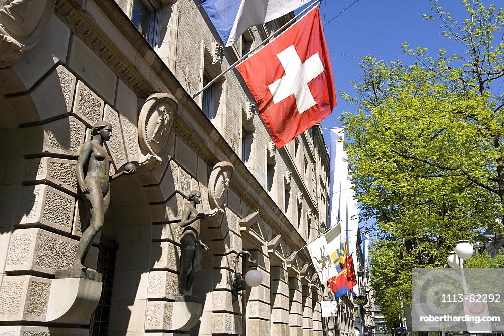Switzerland, Zurich, credit suisse, Bahnhofstrasse