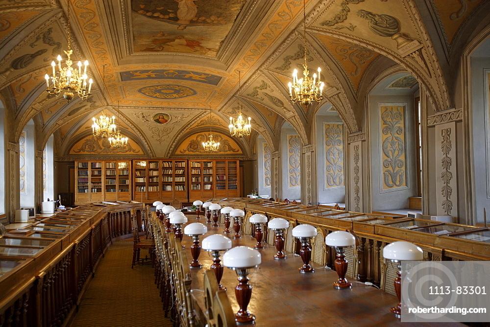 Reading room of Vilnius university, Lithuania, Vilnius