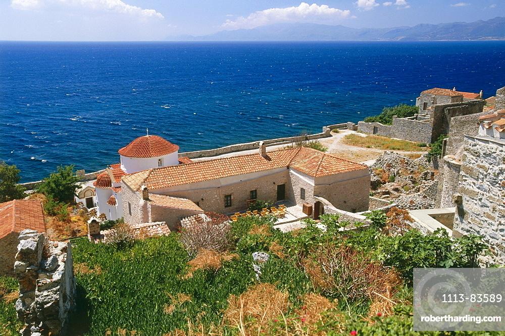 Medievel town Monemvasia, Peloponnes, Greece