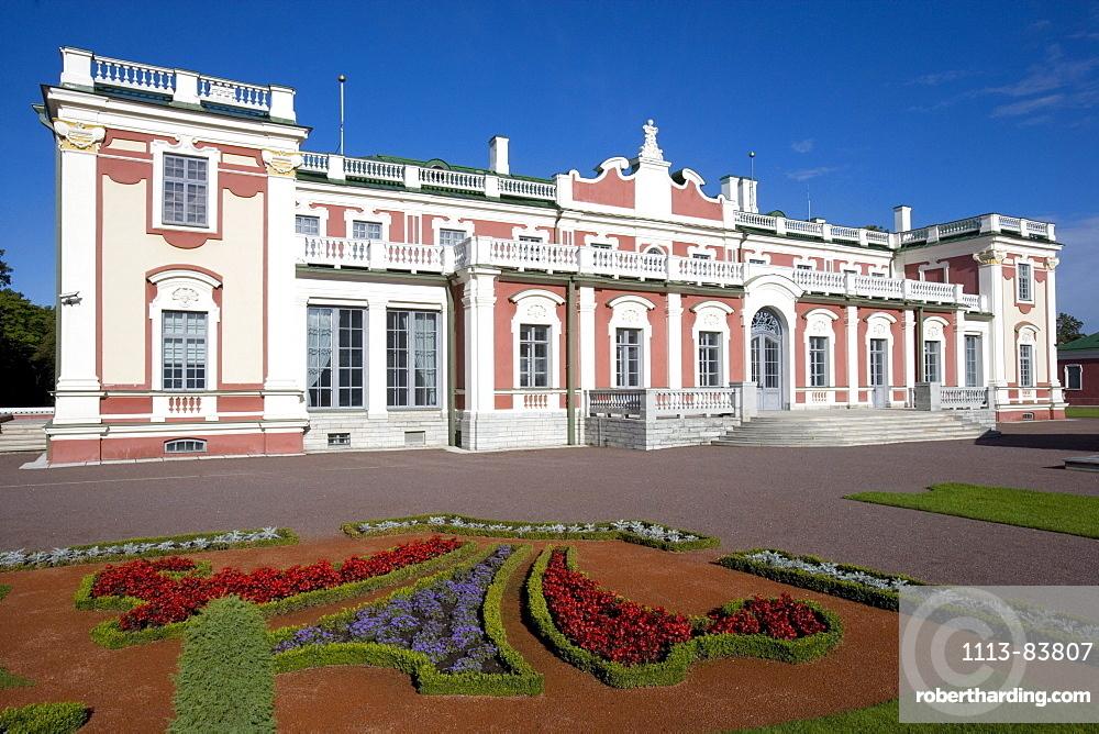 Kadriorg castle, home of an Art Museum, Tallinn, Estonia