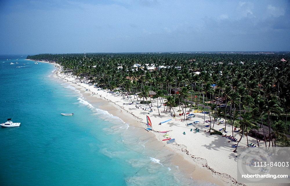 Sandy beach of Punta Cana, Punta Cana, Caribbean, Dominican Republic