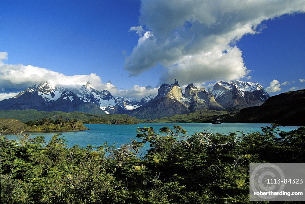 Lago Pehoe, Torres del Paine Nationalpark, Patagonia, Chile