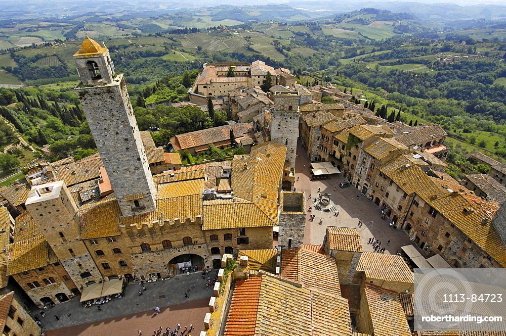 A small walled medieval town, San Gimignano, Tuscany, Italy