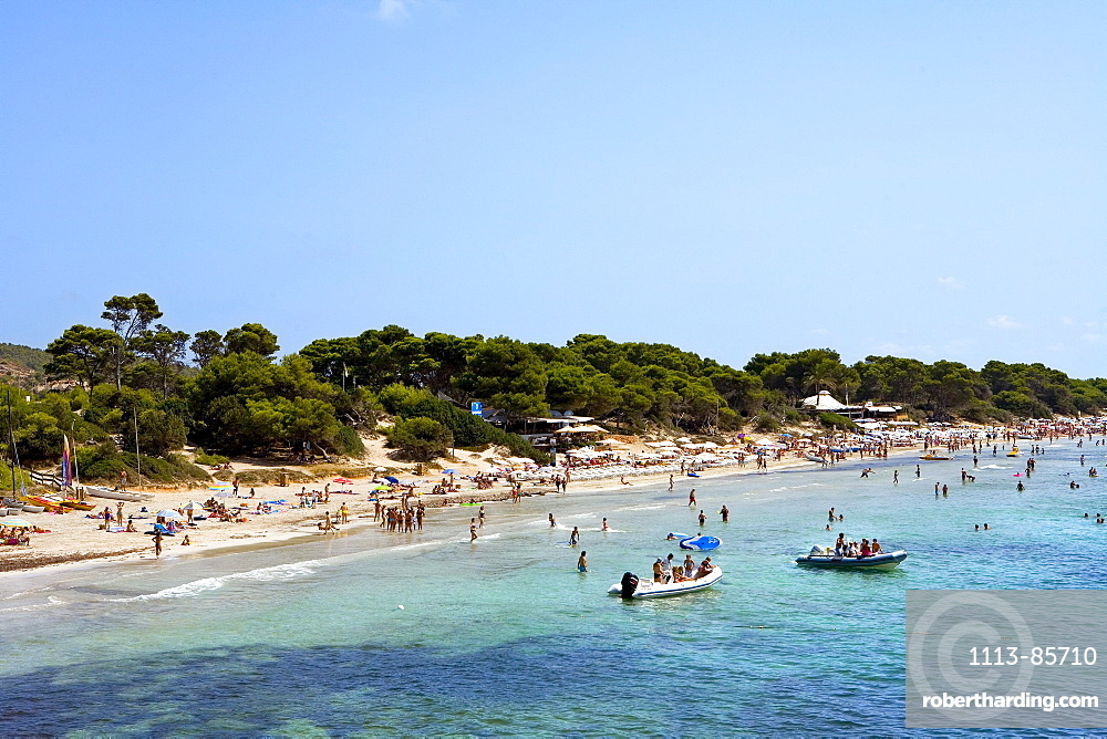 Beach, Platja de ses Salines, Ibiza, Balearic Islands, Spain