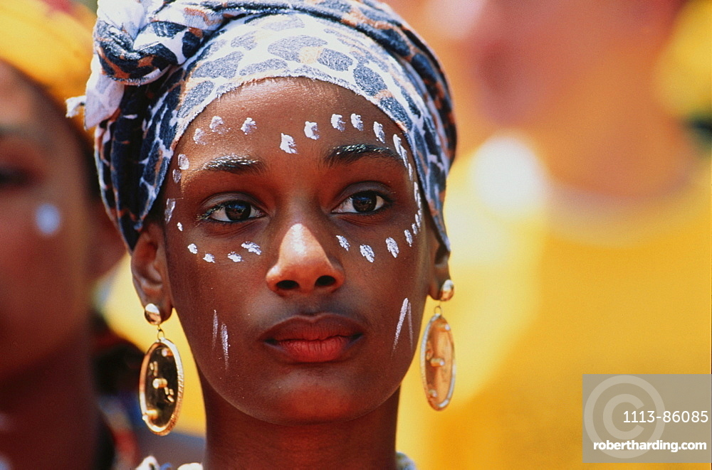 Portrait of a young woman, Madagascar, Africa