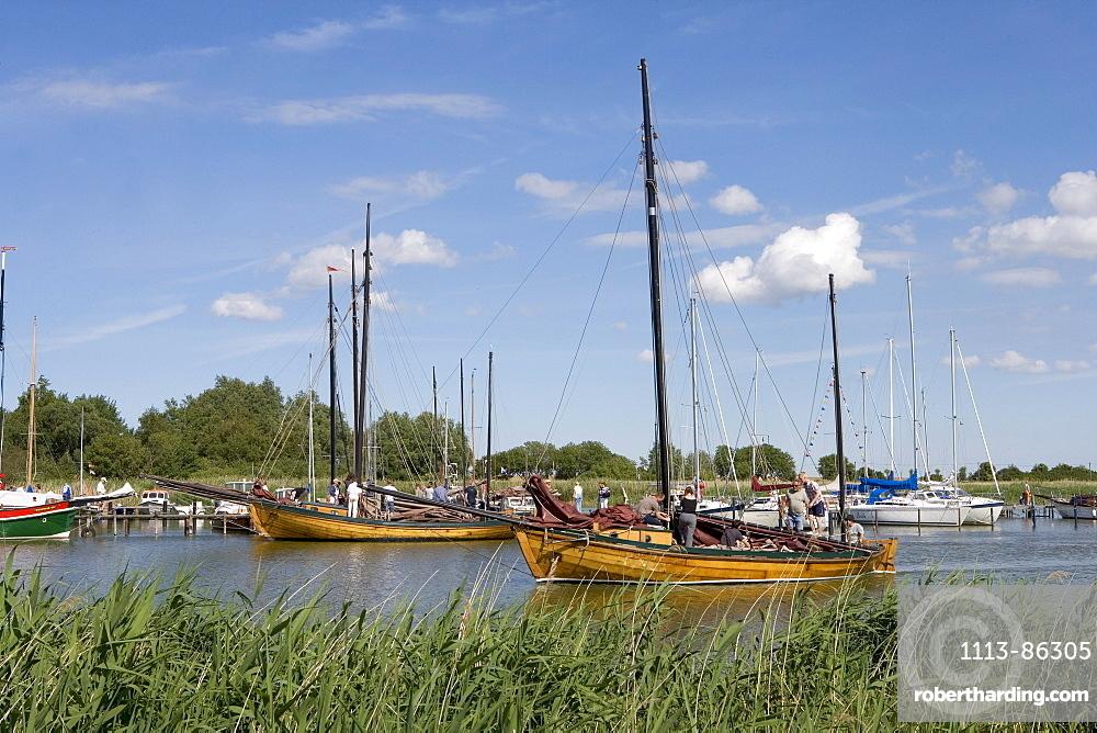 Sailing Regatta, Wustrow, Fischland, Darss, Zingst, Baltic Sea, Mecklenburg-Western Pomerania, Germany