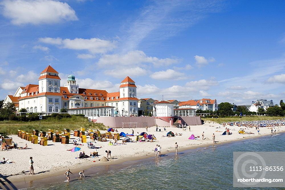 Spa Hotel, Binz, Ruegen, Baltic Sea, Mecklenburg-Western Pomerania, Germany