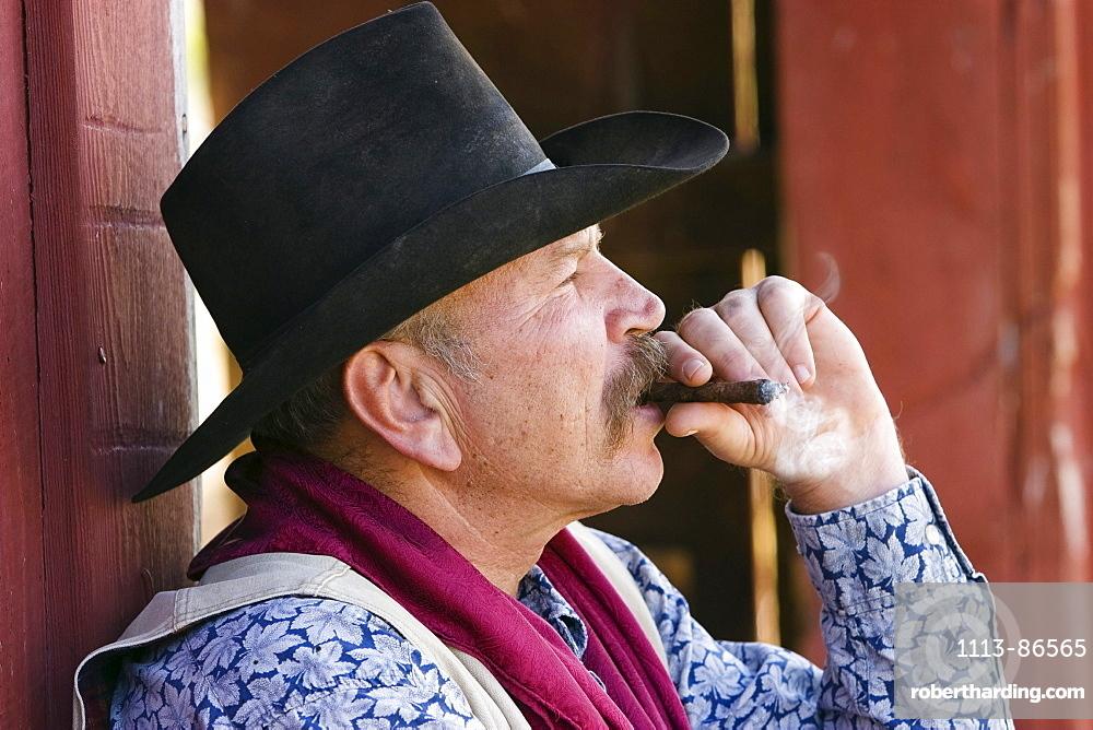 cowboy smoking, wildwest, Oregon, USA