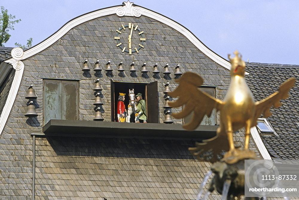 Eagle on Goslar's market fountain, Harz Mountains, Lower Saxony, northern Germany, UNESCO, World Heritage Site, list