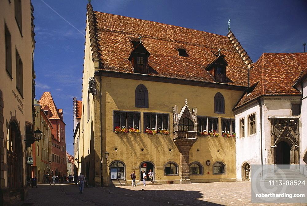 Medieval City Hall, gothic architecture, Regensburg, Upper Palatinate, Bavaria, Germany