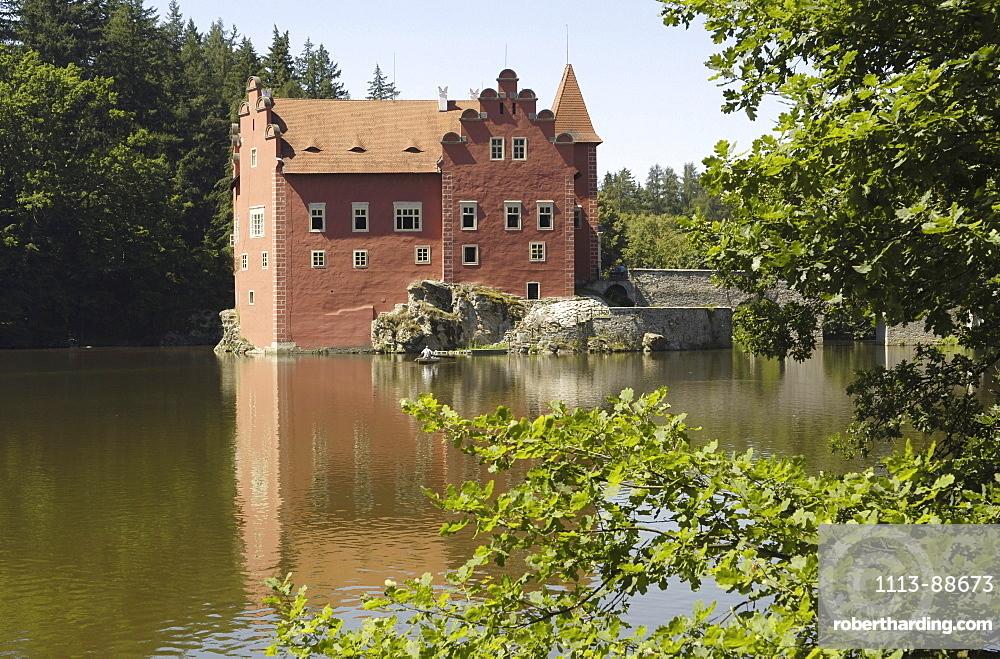 Moated castle Cervena Lhota, Czech Republic