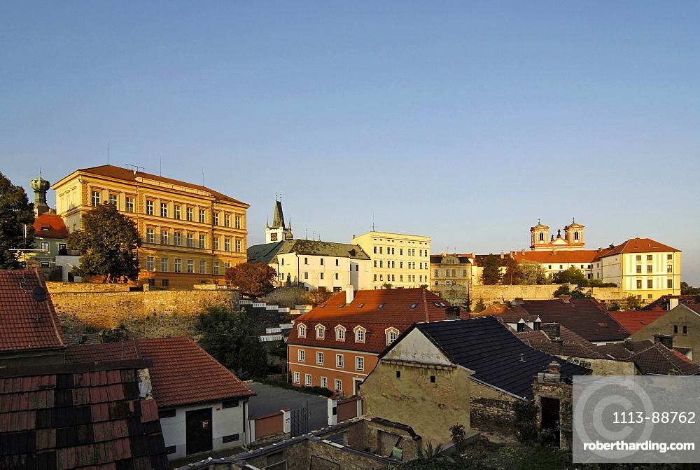 View with Jesuit Church, Litomerice, Czech Republic