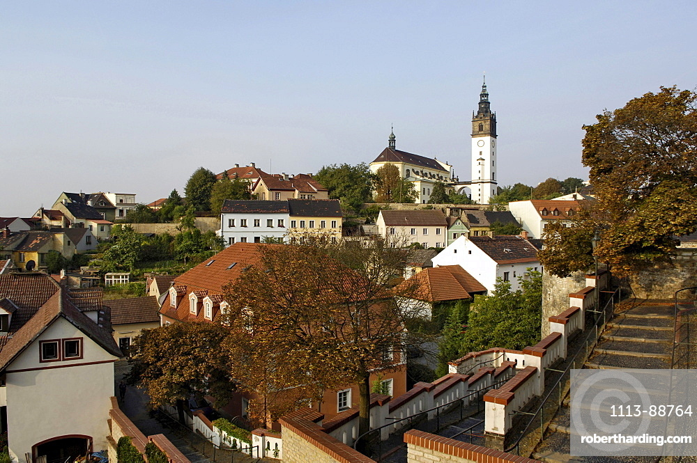 View of cathedral hill, Litomerice, Czech Republic