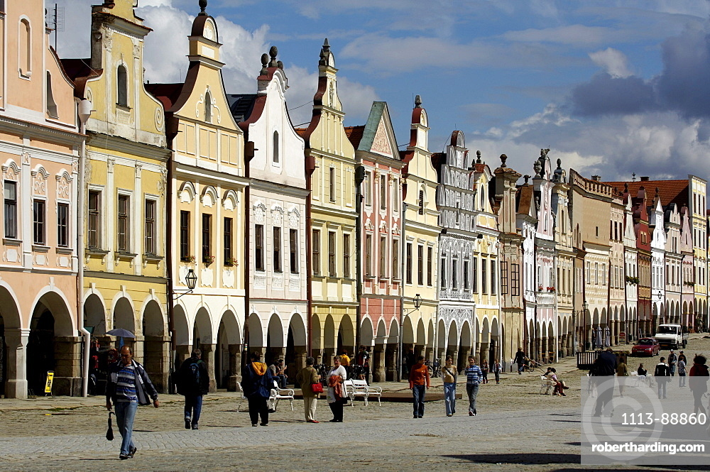 Market place, Telc, Czech Republic