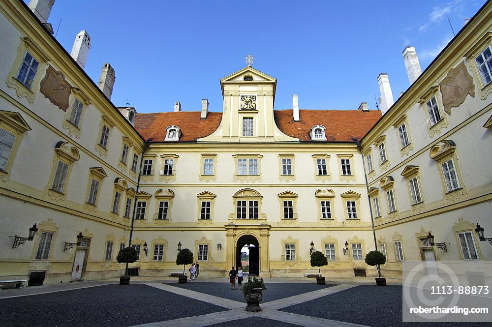 Courtyard Castle Valtice, Czech Republica