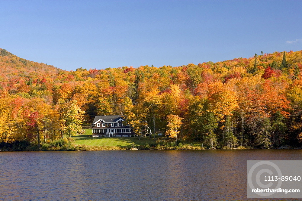 Lake at Dixville Notch in Autumn, New Hampshire, United States of America, USA