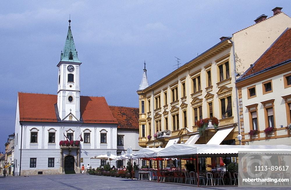 Trg Kralja Tomislava Main Square with City Hall, Varazdin, Varazdin, Croatia