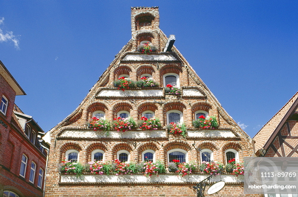 House in the old town, Lueneburg, Lower Saxony, Germany