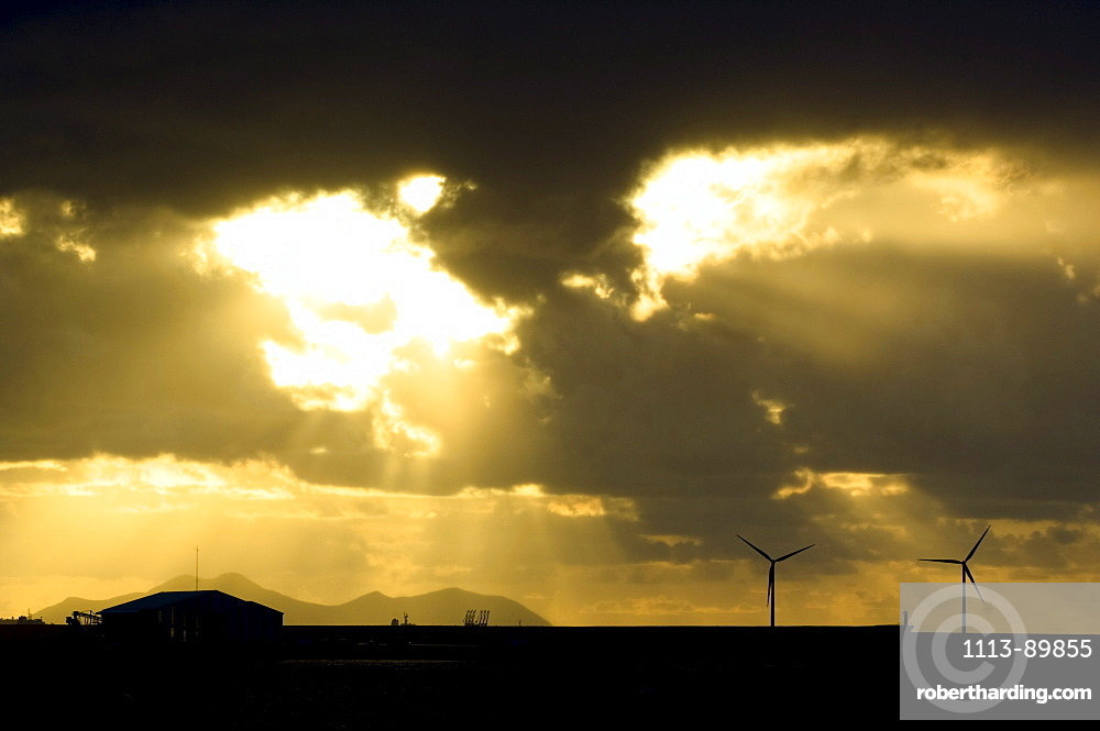 Evening mood, clouds, Basque region, Spain