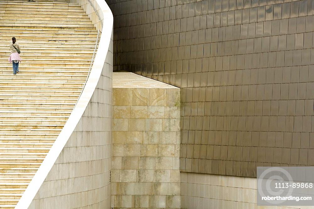 Staircase, Gugggenheim Museum, Bilbao, Spain