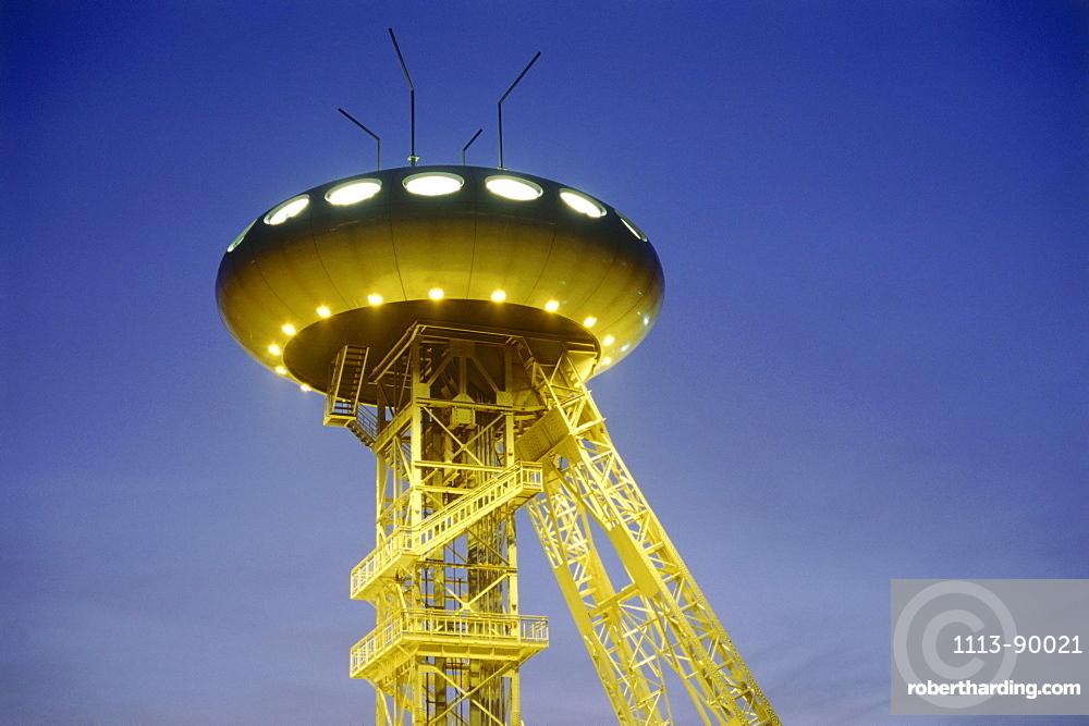 Colani Ei Science Park, UFO, Luenen, Ruhr Valley, Ruhr, Northrhine Westphalia, Germany