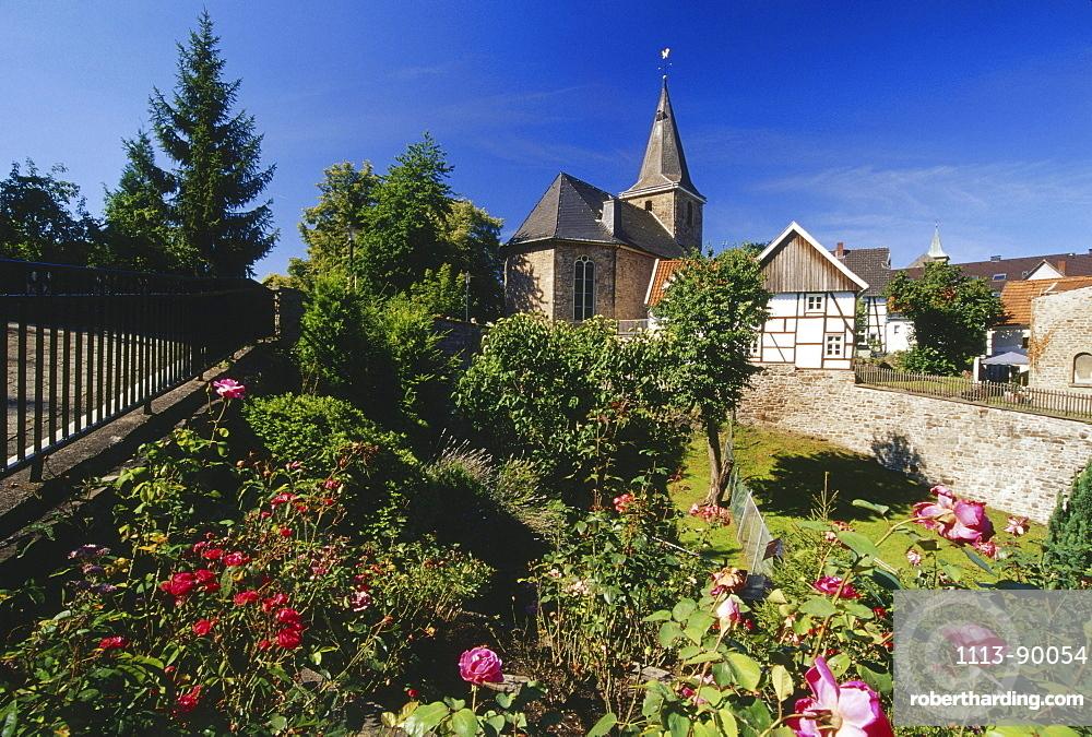 Church in the town of Hattingen Blankenstein, Ruhr Valley, Ruhr, North Rhine Westphalia, Germany