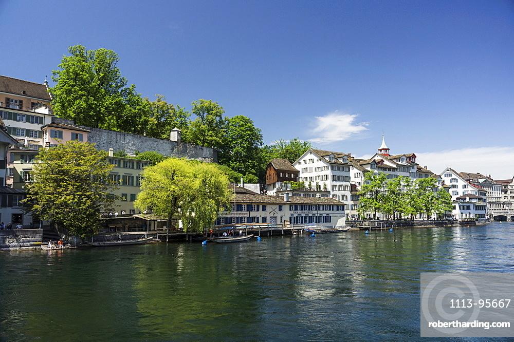 Riverside of Limmat, Schipfe, Lindenhof, Zurich, Switzerland