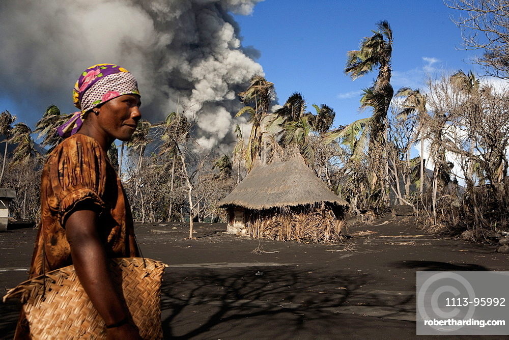 Daily life on Matupit island, Tavurvur Volcano, Rabaul, East New Britain, Papua New Guinea, Melanesia- Pacific