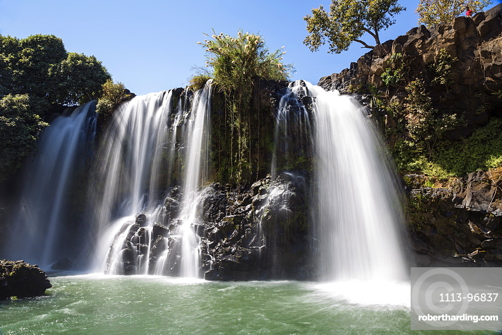 Lily waterfall near the village of Ampefy, Madagascar, Africa