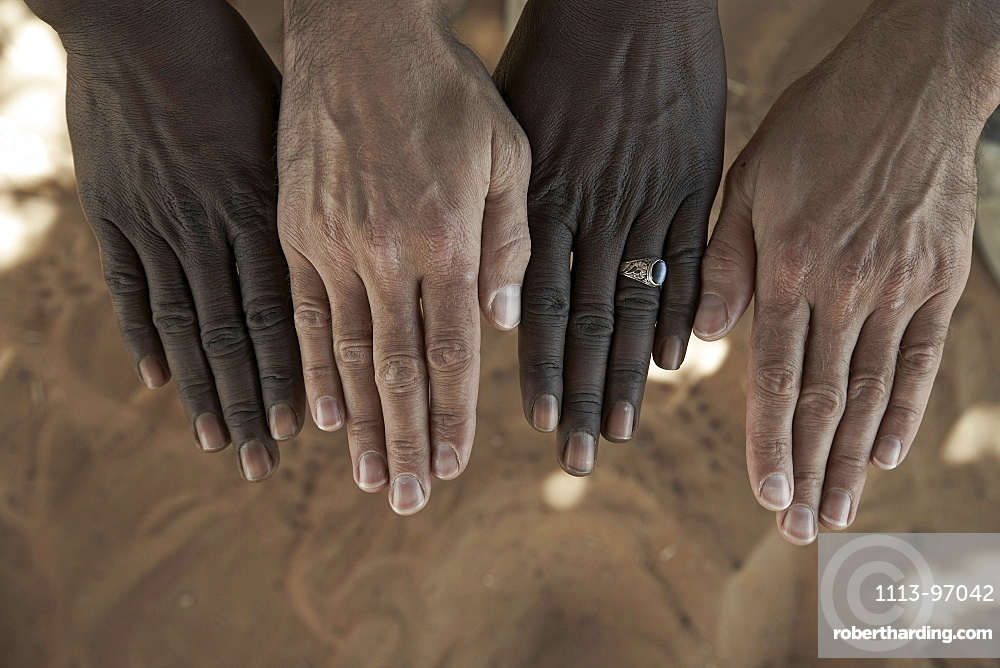 Male hands, Libya
