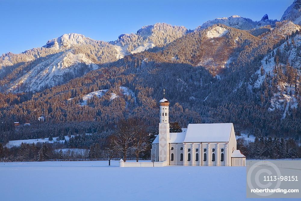 St Coloman pilgrimage church at Schwangau, near Fuessen, Allgaeu, Bavaria, Germany